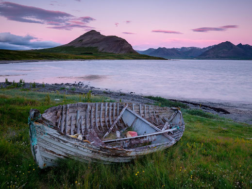 Island Iceland Abendstimmung Sonnenuntergang Westfjorde