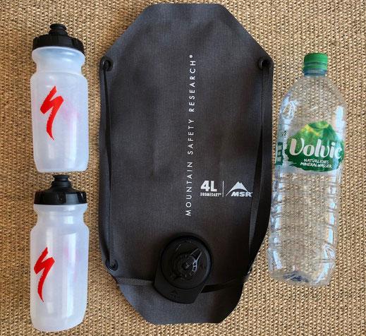 MSR- Dromedary 4 l Wassersack und weitere Flaschen