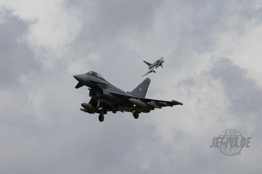 Anflug Eurofighter aus Nörvenich Boelcke in Leeuwarden