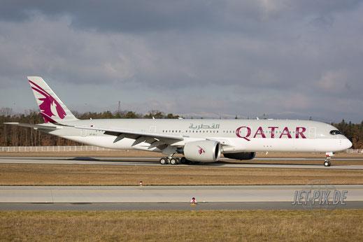 A7-ALJ Qatar Airbus A350 EDDF Frankfurt Norwestbahn
