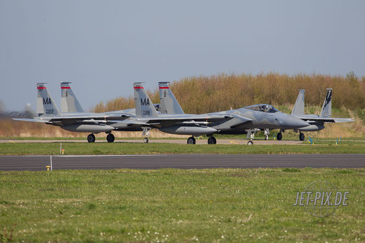 F15 beim Start in Leeuwarden