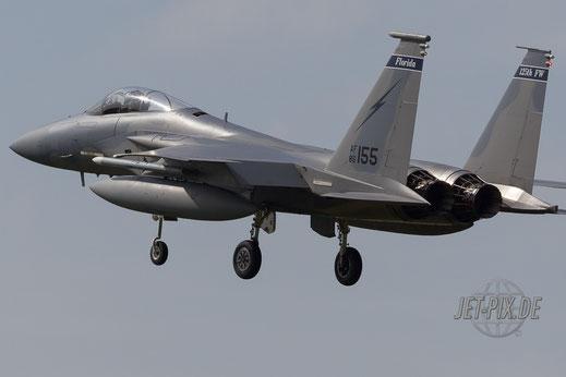 F15 zeigt die kalte Schulter Fliegbasis Leeuwarden Netherlands