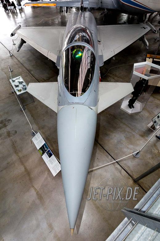 Eurofighter als Exponat  Oberschleißheim Flugzeugwerft