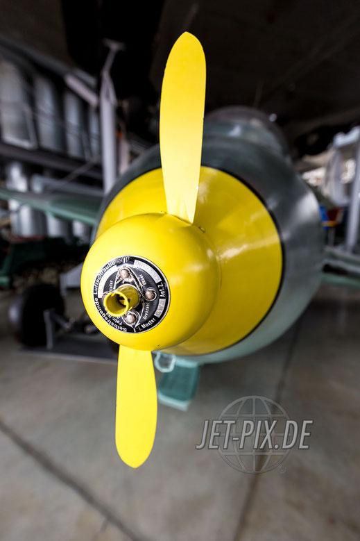 Detailaufnahme vom Kraftei in der Flugzeugwerft Oberschleißheim
