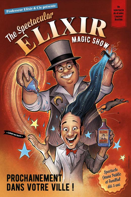 magicien-toulouse.net - Magicien Pro Toulouse - Spectacles Close-up et scène - Le Triporteur Magique du professeur Elixir