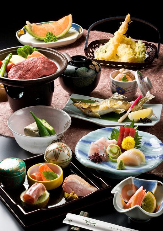 ご夕食の料理例【かのせ温泉 赤崎荘】