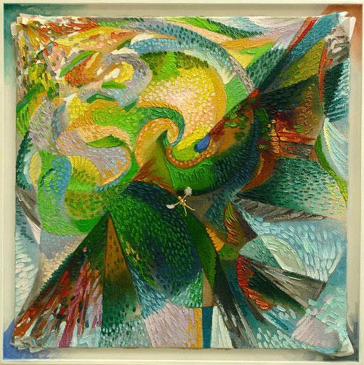 voler, Icare, oiseau, arbre, peinture, tableau, Lesenfans, oeuvre
