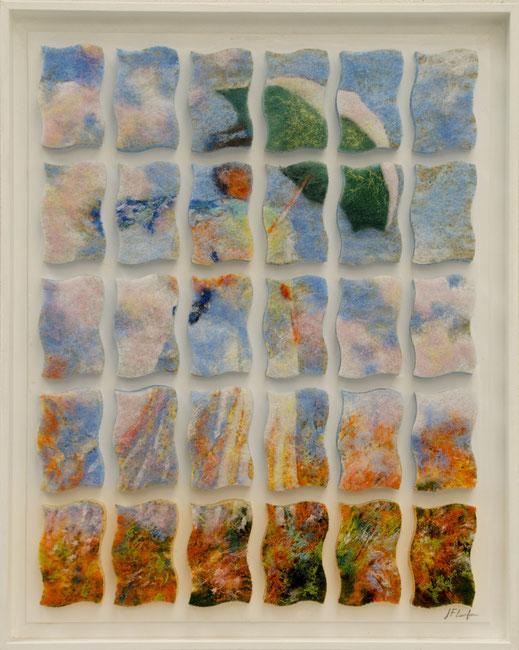 éponge, jeune, femme, demoiselle, chapeau, impressionnisme, Monet, champs, campagne, promenade