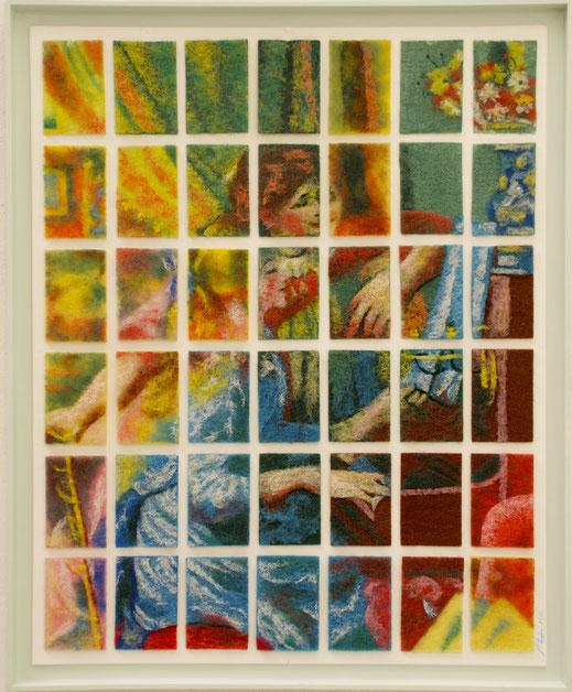 éponges, piano, musique, vaisselle, Renoir, impressionnisme, jeune, fille, demoiselle, tradition