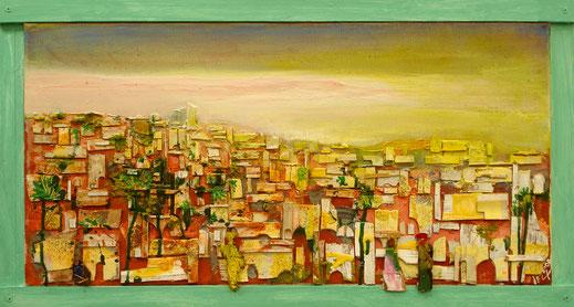 Paysage imaginaire n°1, Format 47x87