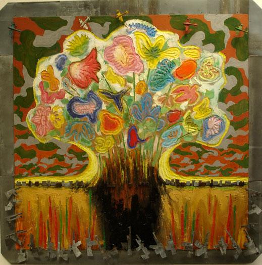 Les fleurs de Bagdad, Format 136x136
