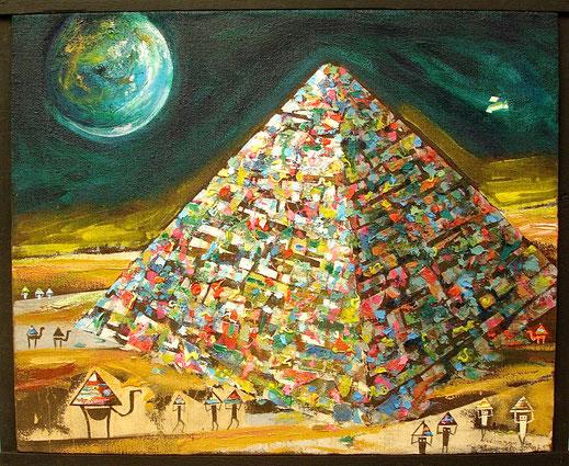Paysage lunaire n°3, Format 90 x 110