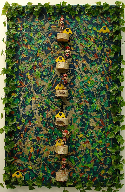 forêt, Boulogne, bois, nature, prostituée, péripatéticienne, pute, guerre, militaire, peinture, tableau, Lesenfans, art contemporain