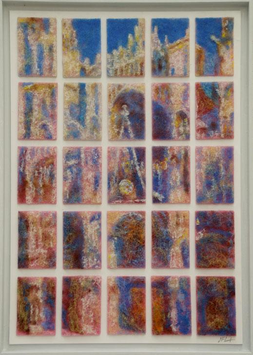 tampon, éponge, vaisselle, ménage, Monet, église, cathédrale, Rouen