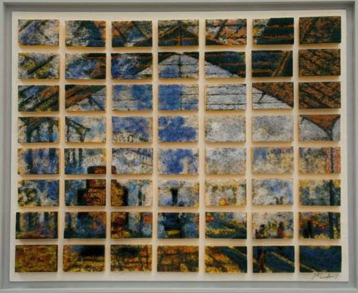 éponge, tampon, vaisselle, ménage, Monet, gare, train, voyage