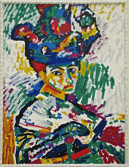 scotch, chatterton, femme, chapeau, Matisse, couleur, art, peinture