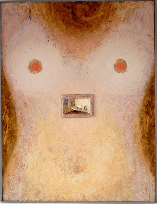 femme nue, chambre, lit, tableau, peinture, art contemporain, oeuvre, Lesenfans