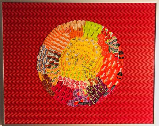 ObstSticker, 41 x 51 cm, 2016