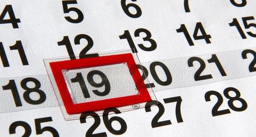 Kalenderblatt Monatskalender