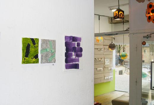 Ausstellungsansicht in Kohi-Kulturraum Karlsruhe, Nathalie Franz und Alexander Suvorov