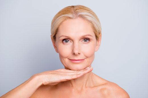 Gesicht älterer Frau