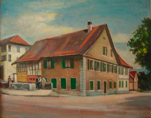 Kunstmaler Jean Kern um 1950