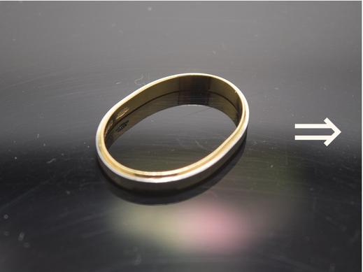 コンビリング変形直し、指輪変形直し