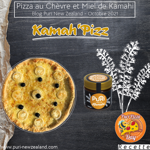 Pizza au chèvre et miel de kamahi 100% NZ