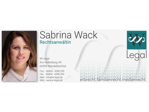 Rechtsanwältin Sabrina Wack