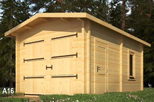 Abri de jardin garage 16m²