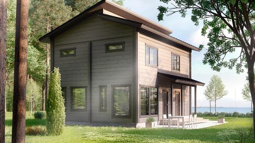 Maison en bois 128m²