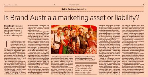 Die Kraft österreichischer Marken - the power of Austrian Brands