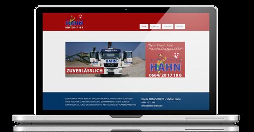 redesign webseite transporte hahn
