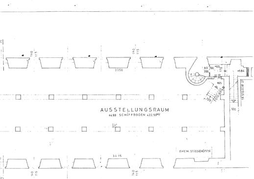 Ausstellungsraum Mittelgeschoß Schlossgalerie Lamberg