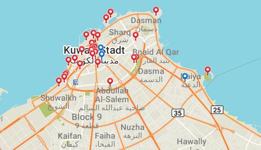 Kuwait, Stadtplan, Reisebericht, Reiseblog, Sehenswürdigkeiten, Attraktion,