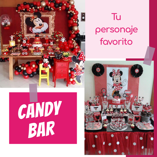 mesa de dulces de tematica de mimi