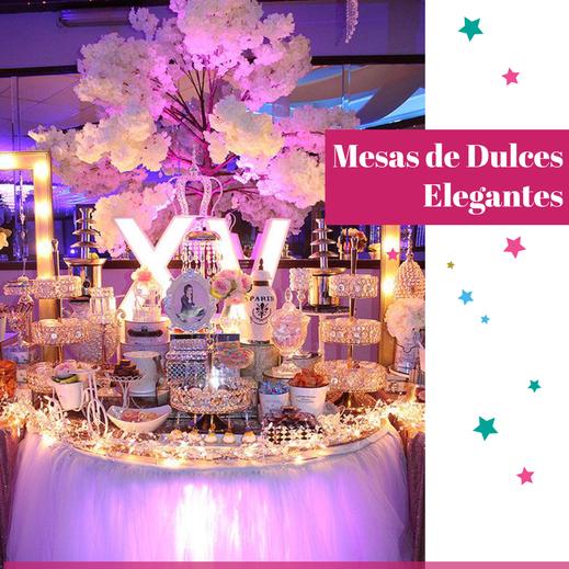 mesa de dulces elegantes