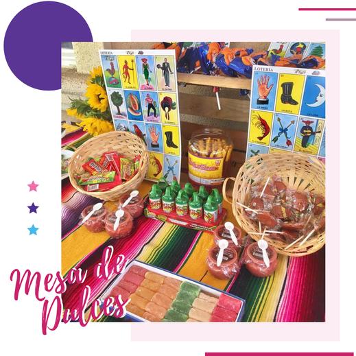 mesa de dulces mexicanos para fiestas