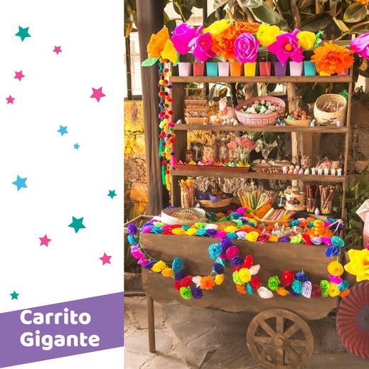 decoración mexicana de mesa de dulces