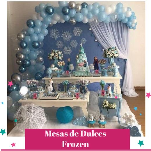 mesa de dulces de frozen para fiestas