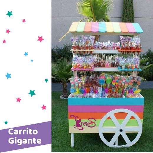 carrito para mesas de dulces