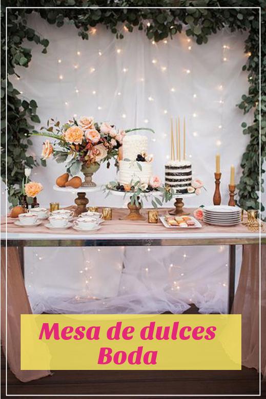 mesa de dulces para bodas civil