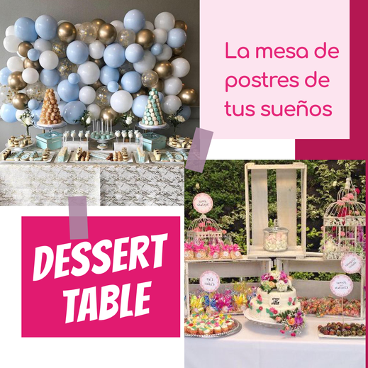 mesa de postres para bodas
