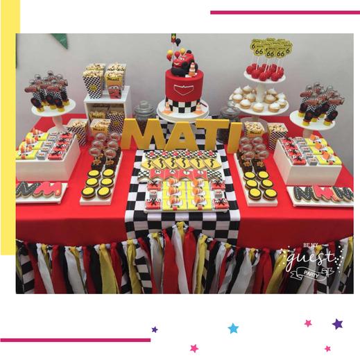 mesa de dulces de cars