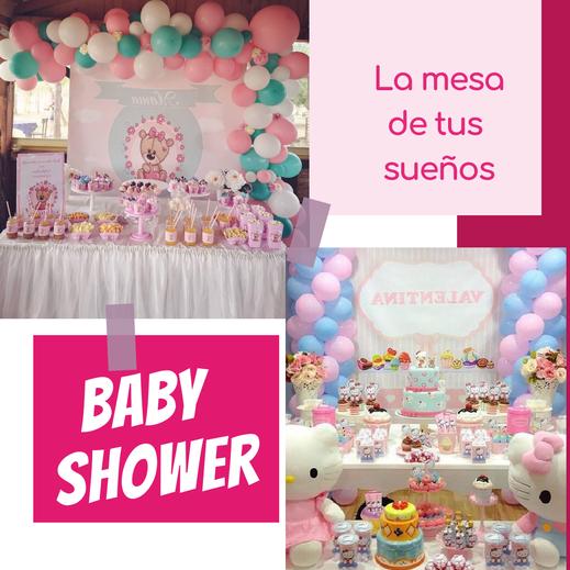 mesa de baby shower para fiestas