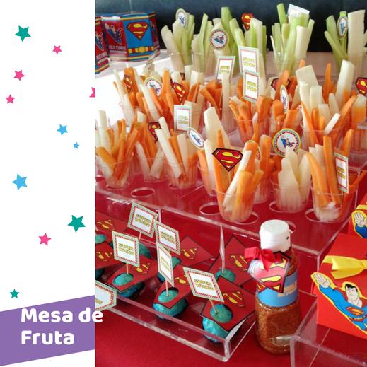 mesa de dulces de fruta
