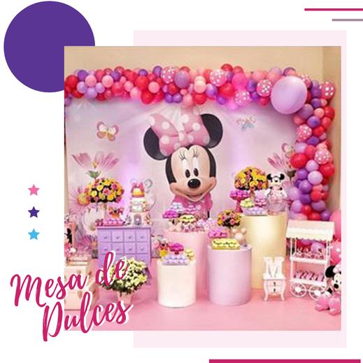 decoración y mesa de dulces de mimi