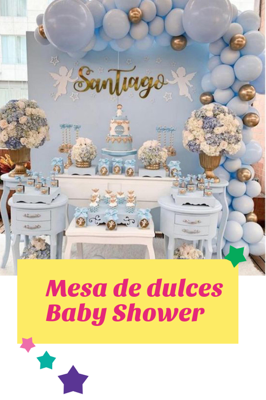 decoración de baby shower para niño
