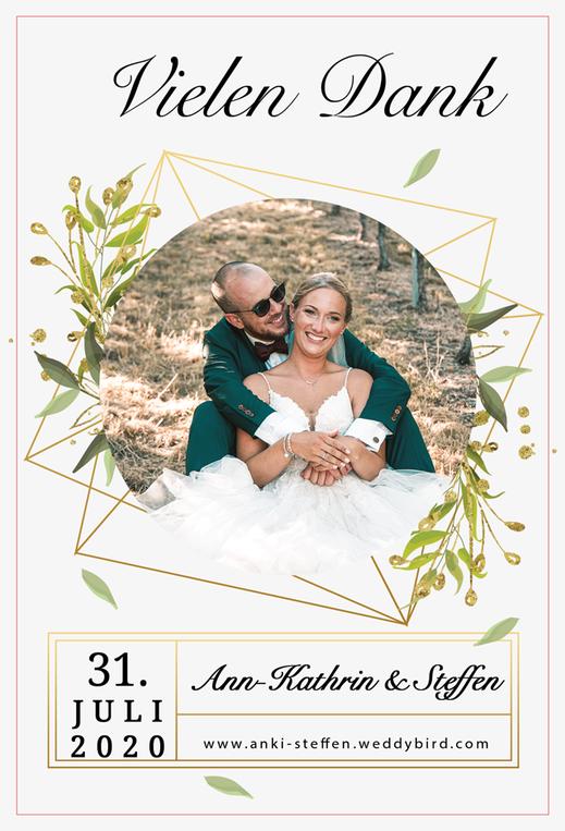 Dankeskarten Hochzeit gestalten lassen