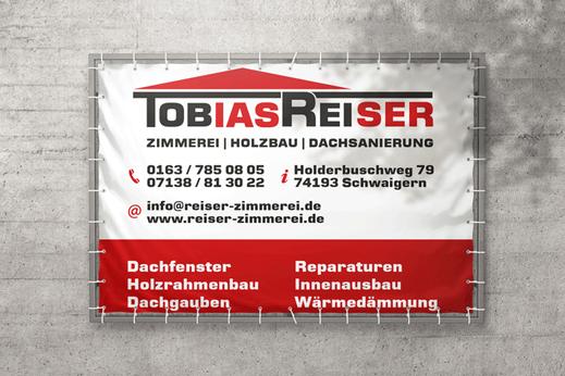 Zimmerei Reiser Massenbach Baubanner Bannerwerbung